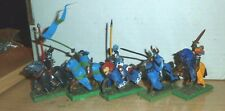 Warhammer Fantasy Painted 5 Bretonnian Questing/ GRAIL Kinghts NICELY PAINTED E