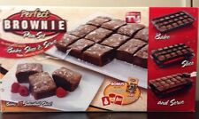 Perfect Brownies Cake Bar Cookies Pie Squares Baking Pan Set Non Stick Divider
