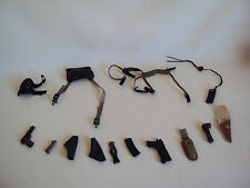 "VINTAGE 1998 THE ULTIMATE SOLDIERS SMALL PARTS FOR 12"" TALL DOLL 14 PCS LOT"