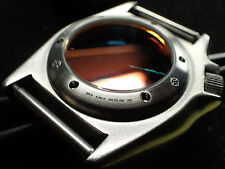 THE.BLOODY.MORNIG SEIKO 33mm SEETROUGH 15ATM CUSTOM CASEBACK BRUSHED -TTT-BM-B