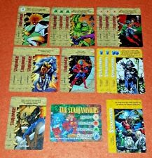 OVERPOWER Starjammers PLAYER SET hero 15 sp 1 Marvels (no Professor X) Binary