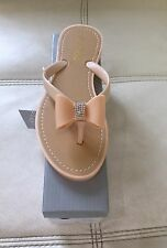 Brand New boxed Ladies Nude Jelly Sandals With diamanté bow size 6