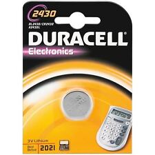BATTERIA DURACELL LITHIO BOTTONE PZ.1 2430 DL2430 CR2430 ECR2430