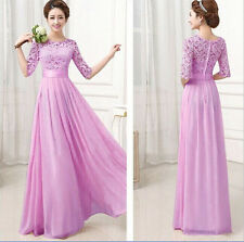 UK Fashion Womens Bridemaid Formal Prom Party Gown Evening Cocktail Long Dress