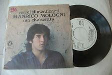 """MANRICO MOLOGNI""""VORREI DIMENTICARTI-disco 45 giri NR UNO 1977""""PROG.IT/RARISSIMO"""