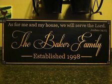 Personalized Wedding Gift. Anniversary Gift.Last Name. As For Me And My House.