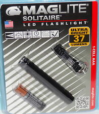 MAG-LITE SOLITAIRE LED KEY CHAIN KEY RING FLASHLIGHT with AAA BATTERY 37 LUMENS