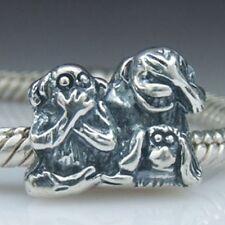CHEEKY MONKEY FAMILY MUM Genuine 925 Sterling Silver Charm Fits European Bracele