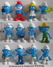 LOT OF 12 Smurfs Smurfette FIGURES 6 CM PVC