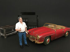 MECHANIC MANAGER TIM FIGURE FOR 1:18 DIECAST MODEL CARS AMERICAN DIORAMA 77443