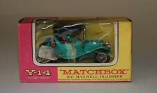 Matchbox Y-14-10 1911 Maxwell Roadster with dark red seats in 1:49 scale