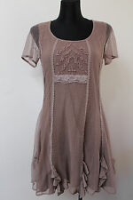 CREAM Of Denmark Women`s Dress Size M Embroidered with Lace Old Pink &