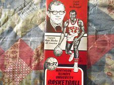 1976-77 NORTHERN ILLINOIS HUSKIES BASKETBALL MEDIA GUIDE Yearbook 1977 Book AD
