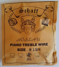 Schaff Roslau Piano Music Treble Wire Size 19 .043 1/3 Lb Coil 66' w Brake