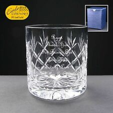 Personalised Cut Crystal Whiskey/ Spirit Glass, Best Man Gift