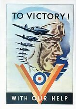 """WW2 - Affiche canadienne - """"To Victory with our help"""""""