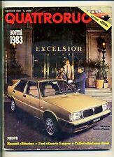 QUATTRORUOTE # Anno XXVIII N.327 Gennaio 1983 # Ed.Domus Rivista Mensile