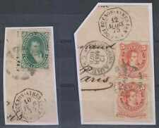 "ARGENTINA 1875 PAQUEBOT Sc 18A & 20 PAIR ON PIECES ""BUENOS AYRES PAQ FR N 1 & 3"""
