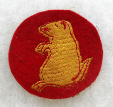 1930'S ORIG 205TH/206TH INF RGT EMB ON RED WOOL COTTON GAUZE BACK OFF UNIFORM