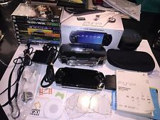 Lot Sony PSP 1001 Value Pack - System + 8 Games + Case + Accessories Bundle