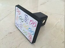 """Trailer Tow Hitch Cover Black for 2"""" Receiver Track Car SUV 5""""X4"""" Flip Flops"""