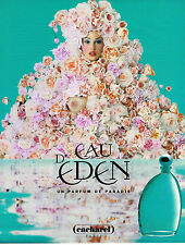 PUBLICITE ADVERTISING 025  1996  CACHAREL  parfum EAU D'EDEN