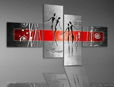 Abstract Modern Wall Decor Oil Painting 4pc(No Frame)