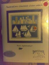 """Australian Counted Cross Stitch Pattern Chart Leaflet """"Red Spinnaker"""" Free Ship!"""