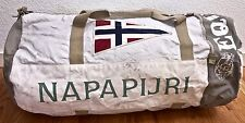 Napapijri  Equator Duffle Bag Tan Swiss Made Waxed Canvas