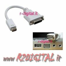 CONVERTITORE MINI DVI / DVI 24+1 FEMMINA M/F MONITOR APPLE MAC MACBOOK POWERBOOK