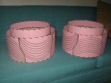 Pair of Mid Century Vintage Style 2 Tier Fiberglass Lamp Shades Atomic  PGB2