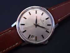 Vintage men's Zenith manual wind with date all original serviced classic design!