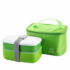 Japanese Bento Lunch Box School Food Container with Insulated Lunch Tote Bag