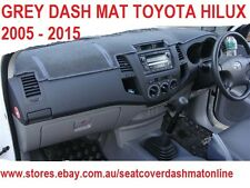 DASH MAT, GREY DASHMAT, DASHBOARD COVER FIT TOYOTA HILUX 2005 - 2015