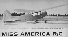 Miss America Vintage Old Timer Plans,Templates, Instructions