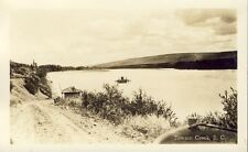 DAWSON CREEK FERRY CROSSING RIVER BRITISH COLUMBIA BC 1940 RPPC Photo Postcard