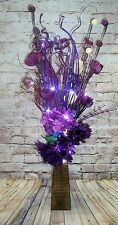 Unique design Purple & Cream Rose Bouquet in FREE vase (20 LED battery lights)