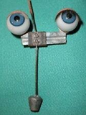 "antique blue sleepy eyes of glass 2.15"""