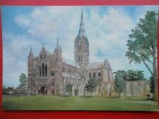 POSTCARD WILTSHIRE SAILSBURY CATHEDRAL FROM SOUTH WEST OIL PAINTING