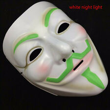 Gold/Silver V for Vendetta Guy Fawkes Mask Anonymous Halloween Cosplay Costumes