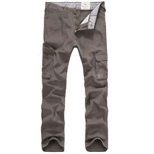 NEW MENS FOXJEANS CAUSAL MILITARY ARMY CARGO WORK PANTS TROUSERS SIZE 36