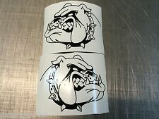 2 x  Bull Dog sticker decal