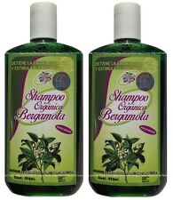 2x Shampoo Organico BERGAMOTA Natural Bergamot Stop Hair Loss & Stimulate Growth