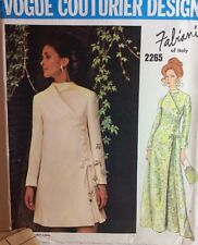 Vogue Sewing Pattern 2265 Vtg Fabiani 14 Italy Evening Dress Loose A Line Label