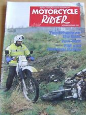 MOTORCYCLE RIDER MAGAZINE SEP/OCT 1994 TWO WHEELS IRON BUTT FIM NATIONAL RALLYS