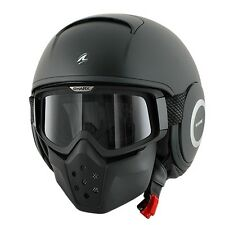 XL SHARK Raw Helmet Matt Black Road Cruiser Harley Scooter Motorbike $349.95