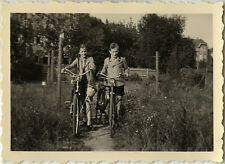 PHOTO ANCIENNE - VINTAGE SNAPSHOT - VÉLO ENFANT BICYCLETTE MODE - BIKE FASHION