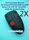 2X Ford AU Falcon/FPV/XR6/XR8 Car/UTE Remote Control Series 2 &3 99'-02' AU2/AU3