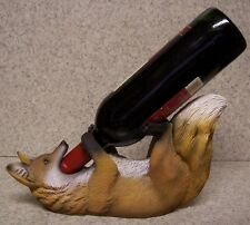 Wine Bottle Holder and/or Decorative Sculpture Bushy Tailed Fox NIB
