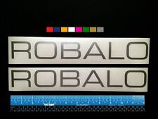"""2 (TWO)   ROBALO  Boats Marine HQ Decals 12"""" - Silver Metallic + more"""